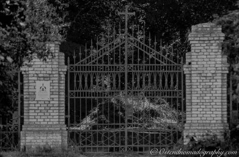 Gate of the abandoned cemetery