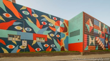 """Mural painted by the Brussels Art Collective """"Hell'O Collective"""". Edition 2017"""
