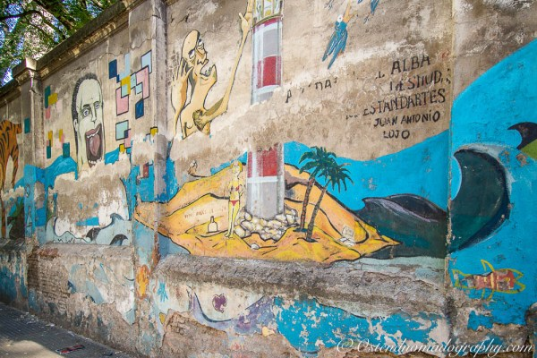 Neglected painted wall in Buenos Aires