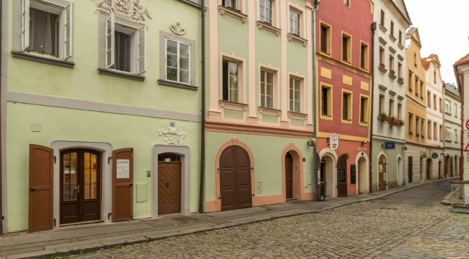 The Pastel Colored Houses of Pardubice's Old Town