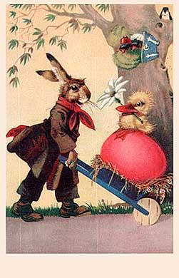 Bild Foto Osterkarte Osterhase Ostern Osterei Küken
