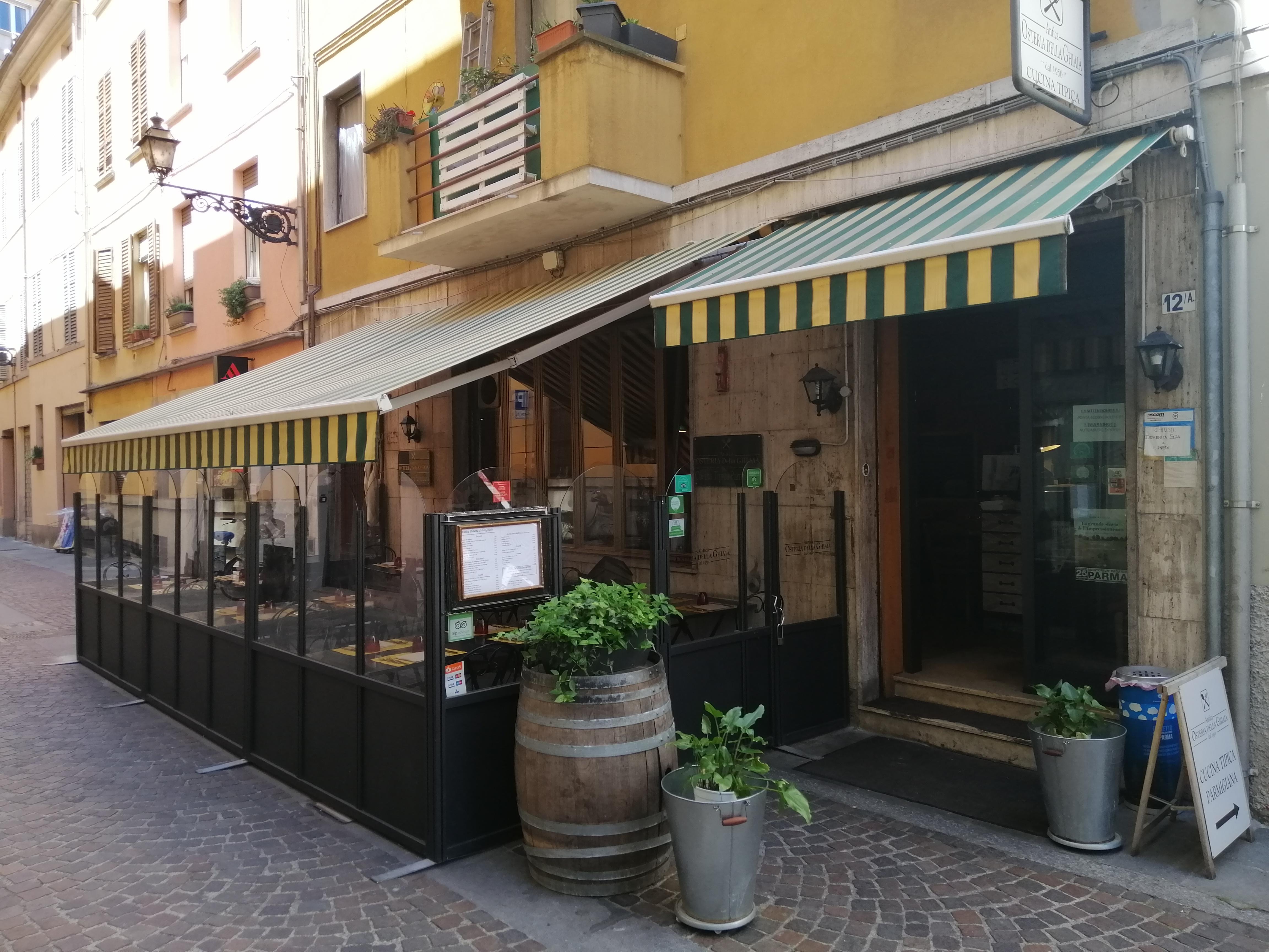 Riapertura Antica Osteria della Ghiaia Parma!