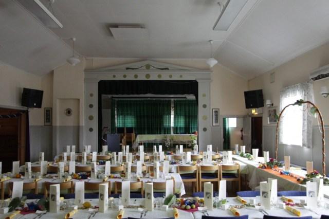Dukat till bröllopsfest i bygdegården