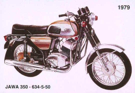 Motocykel Jawa 350 - 1979