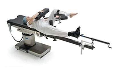 Τοποθέτηση ασθενούς σε κρεβάτι έλξης