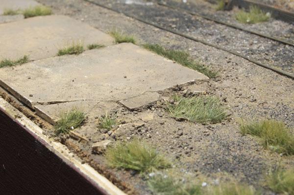 Concrete platform Quarter-inch scale