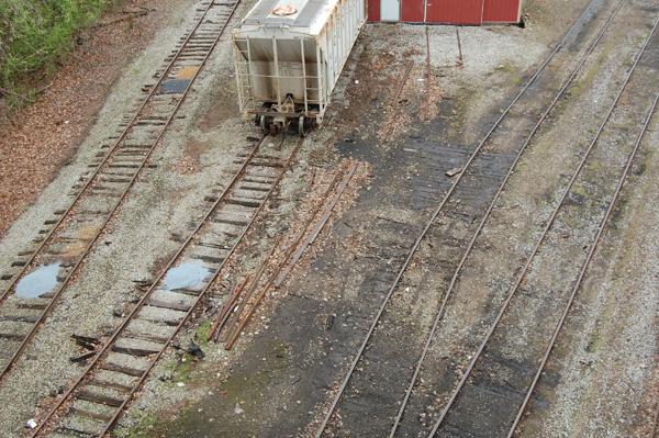 Severed lead track, Brookville In, 2012