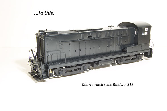 Quarter-inch scale Baldwin S12