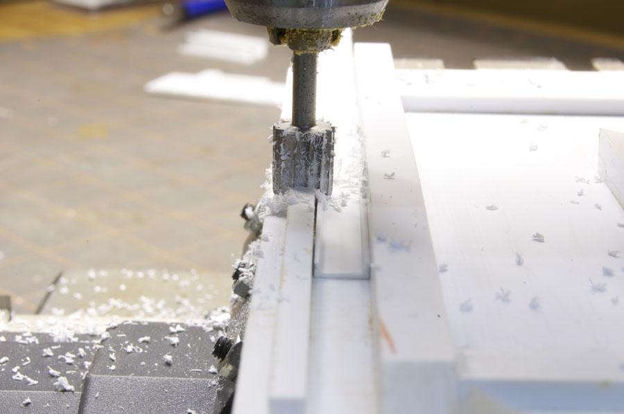 Milling the flange off