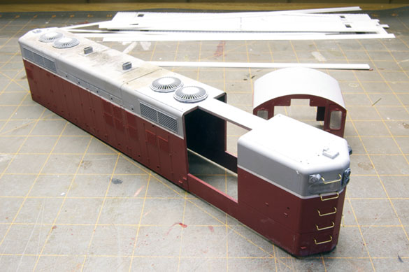 Quarter-inch scale GP9 shell from Red Caboose