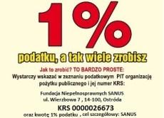 PRZEKAŻ 1% DLA NIEPEŁNOSPRAWNYCH Z OSTRÓDY I OKOLIC