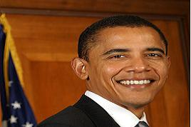 President-elect Barack Obama beaming with victory smiles