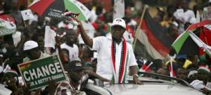 Prof. Attah Mills in a victory rally