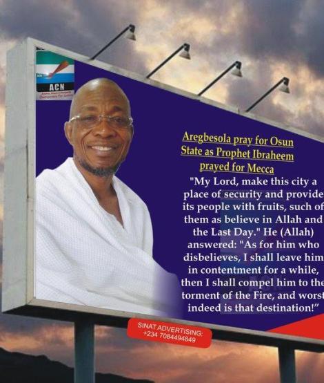 Aregbesola Prays for Osun State
