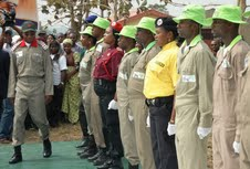 Governor State of Osun, Ogbeni Rauf Aregbesola inspecting a parade of Cadets of Osun Youth Empowerment Scheme (O-Yes), during their passing out ceremony, held at the Orientation Camp of the NYsC, Ede, State of Osun on Tuesday 29-01-2013