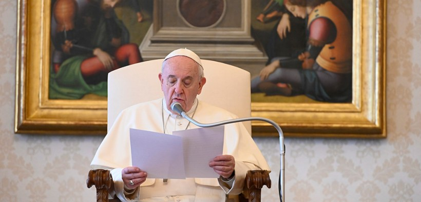 POPE FRANCIS AUDIENCE LIVESTREAM