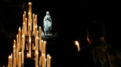 FILE PHOTO OF GROTTO AT LOURDES SHRINE