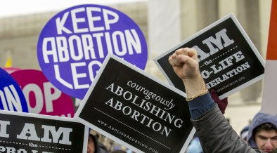 Opposing sides of abortion issue collide in front of Supreme Court