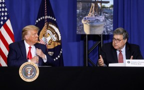 PRESIDENT DONALD TRUMP AND WILLIAM BARR