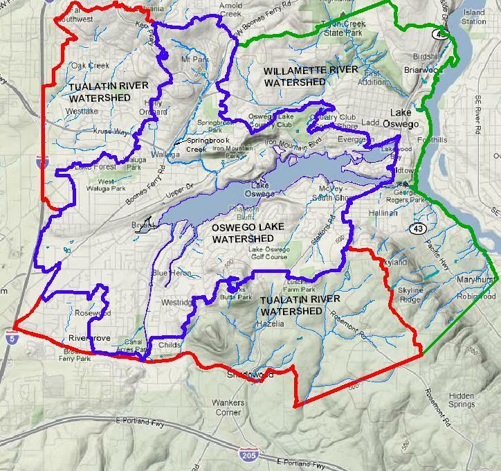 lake oswego oregon map Explore The Watershed Oswego Lake Watershed Council lake oswego oregon map
