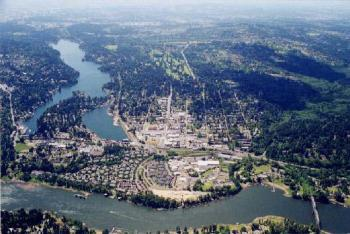 Aerial view of the Lake Oswego Watershed