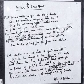 Wilfred Owen Letters and Poetry