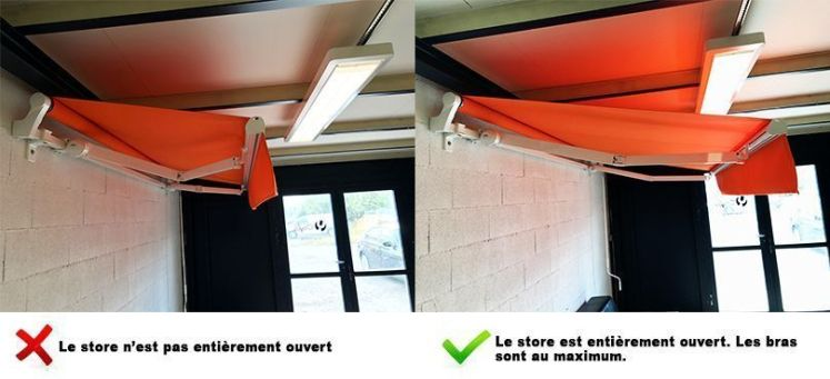 Store banne toujours ouvert
