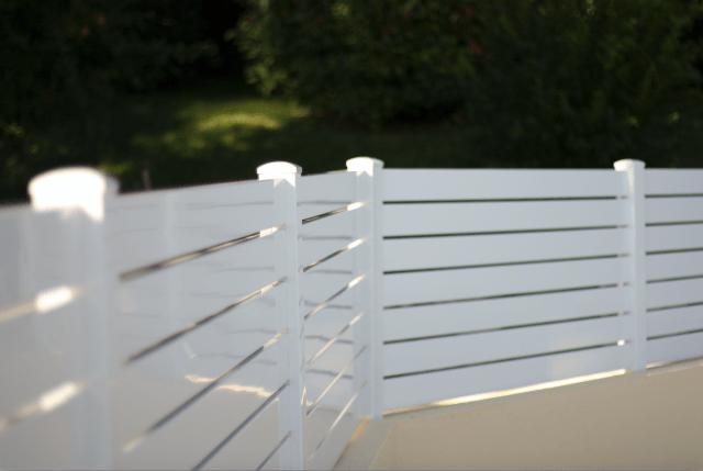 Clôture PVC ajourée