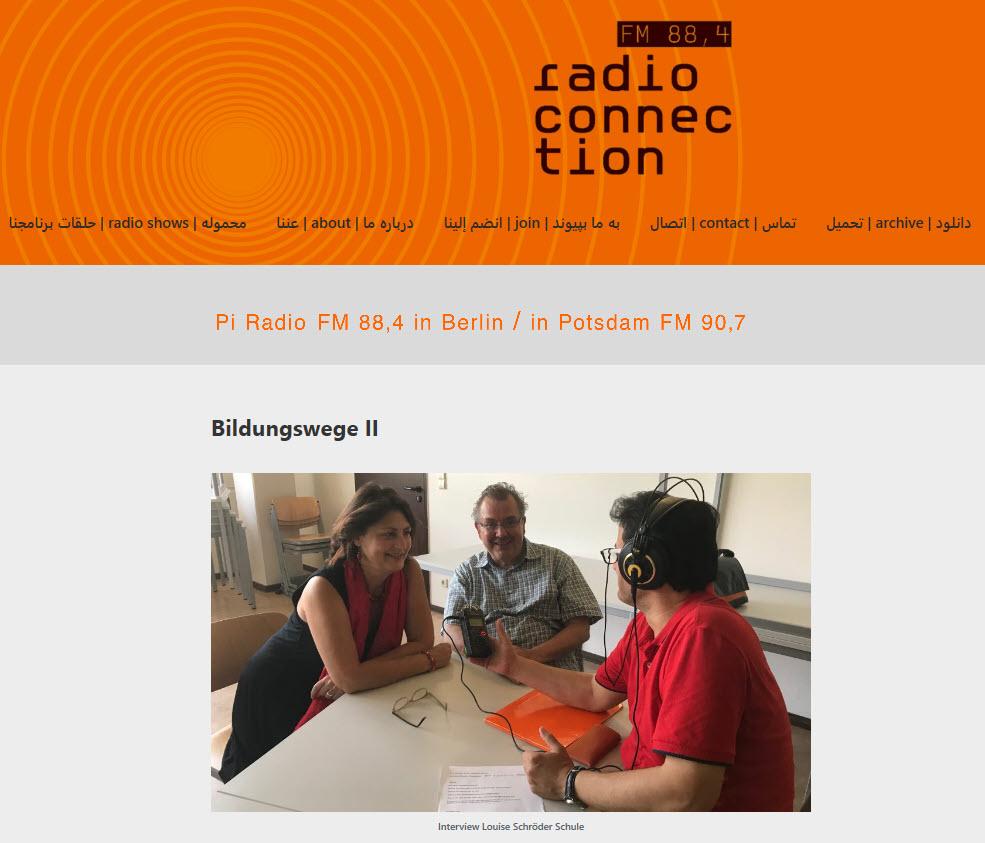 """radio connection """"Bildungswege II - Oberstufenzentren"""""""