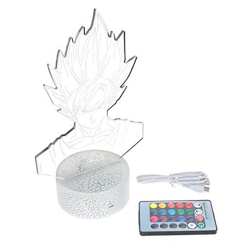 Dragon Deko Aufsteller mit Lichteffekt Son Goku Leuchte Super Saiyajin Büste