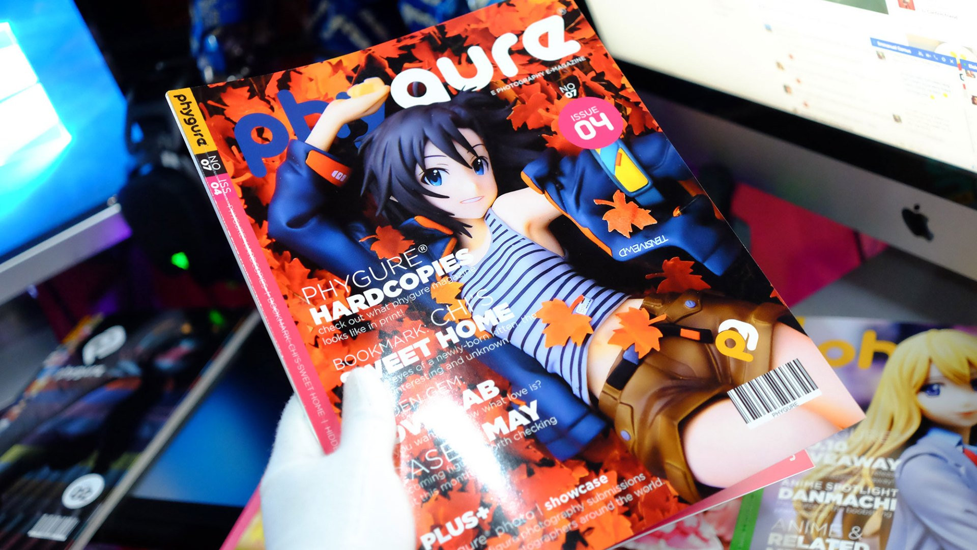 Up close shot of the physical version of Phygure magazine.