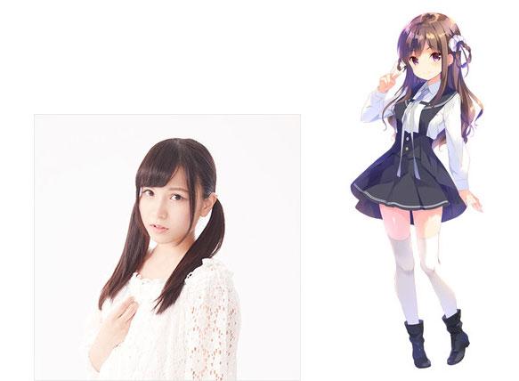 Reina Miyase como Ayaka Tachikawa, 16 anos de idade. Ela é agressiva e militante. Design de personagem por Koharu Sakura de QP: flapper (Girl Friend BETA, Girlish Number)
