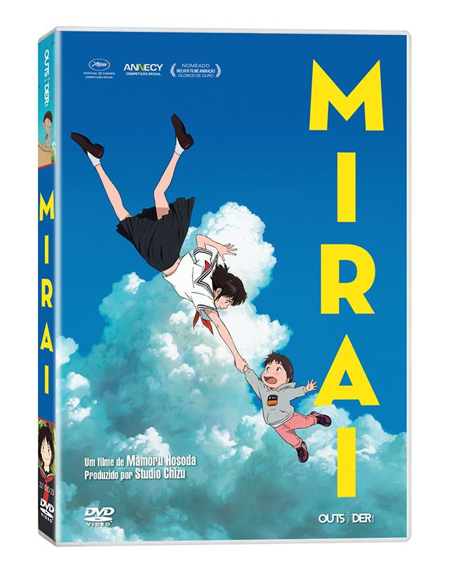 Capa do DVD de Mirai pela Outsider Films