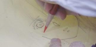 Vê a diretora de animação de Violet Evergarden a desenhar a Violet