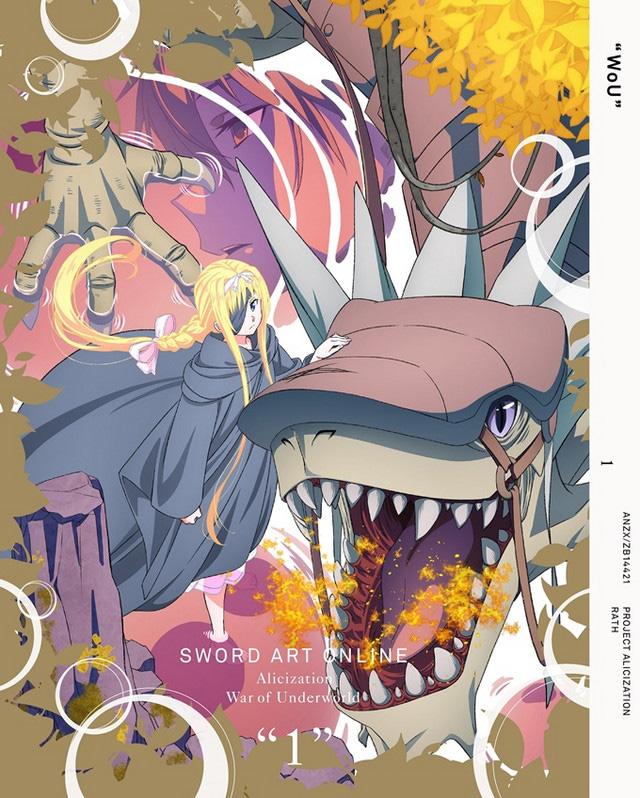 Capa do 1º volume DVDV/BD de Sword Art Online: Alicization – War of Underworld