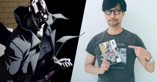 Hideo Kojima com o mangá de No Guns Life