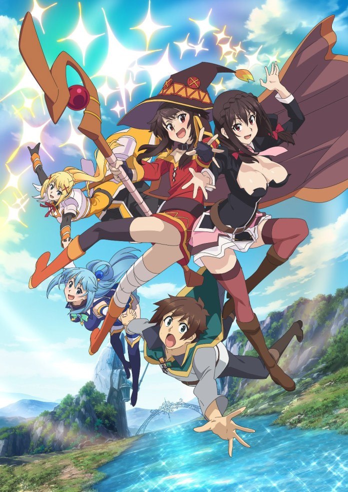 Imagem do DVD/BD do filme de KonoSuba