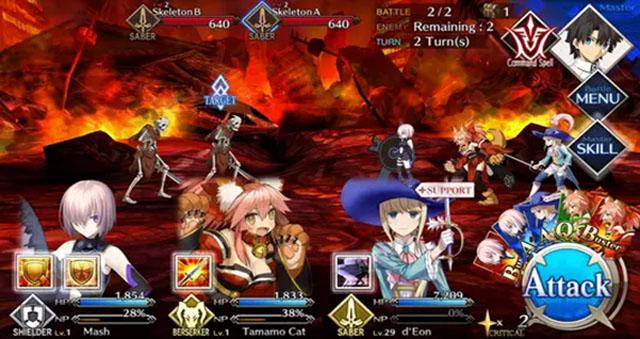 Imagens de Gameplay do jogo(tirando Mashu estes servos não estão disponíveis no início do jogo para jogar).