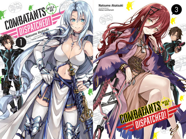 Capa do volume 1 e 3 de Combatants Will Be Dispatched! (Sentōin, Hakenshimasu!)