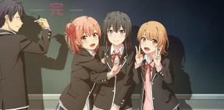 Série anime Oregairu 3 foi adiada por tempo indeterminado