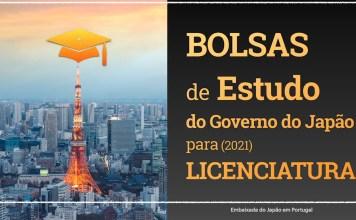 Abertas candidaturas para Bolsas de Estudo 2021 para o Japão (licenciatura / pós-graduação, mestrado ou doutoramento)