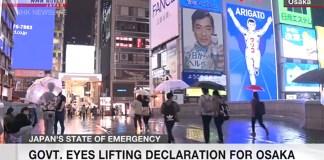 Japão considera levantar estado de emergência de Osaka, Kyoto e Hyogo