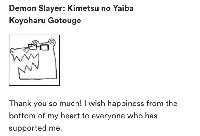 ©Autora de Kimetsu no Yaiba