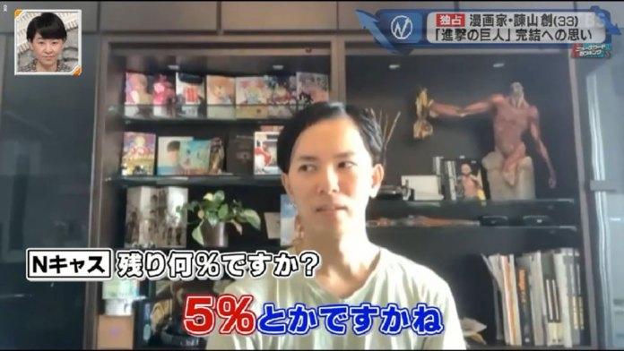 Resta apenas 5% da história do mangá Attack on Titan (Shingeki no Kyojin)