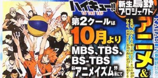 Confirmado: 2ª parte de Haikyu!! TO THE TOP em Outubro 2020