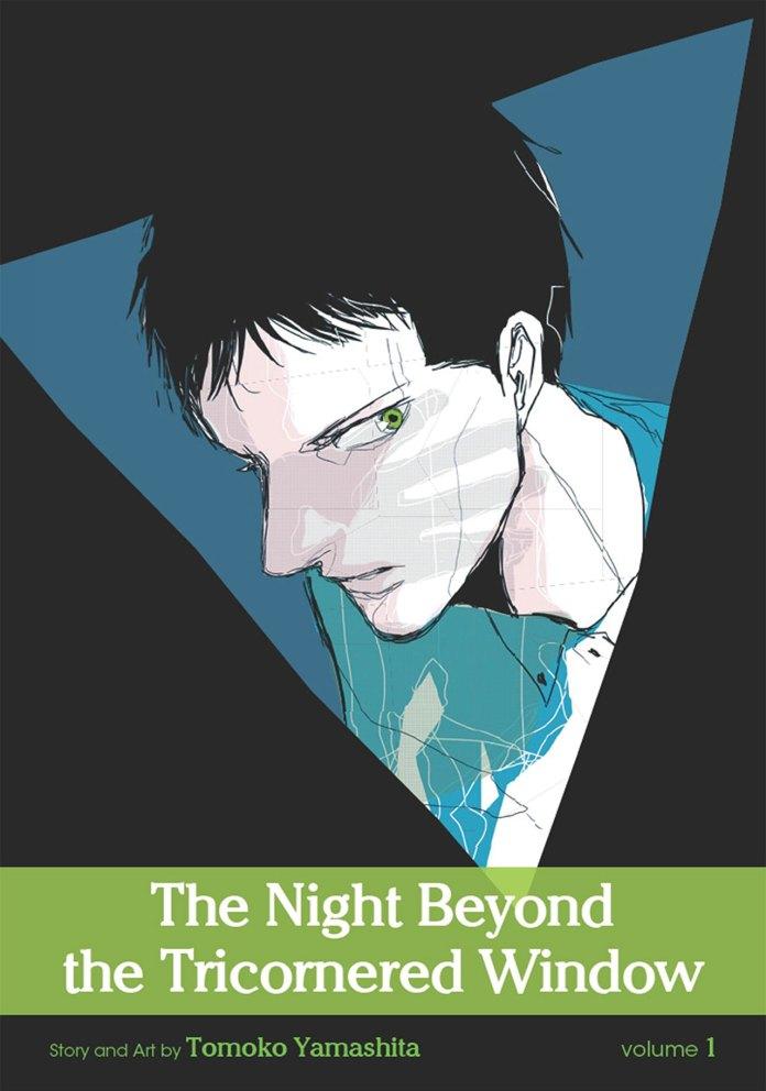 Capa do volume 1 de The Night Beyond the Tricornered Window (Sankaku Mado no Sotogawa wa Yoru)