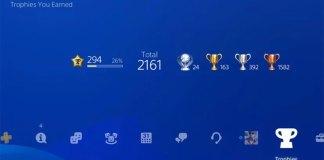 Alterações dos troféus da PlayStation