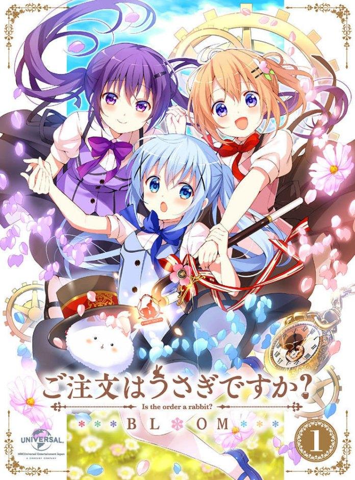 Capa do volume 1 DVD/BD de Gochuumon wa Usagi Desu ka? BLOOM