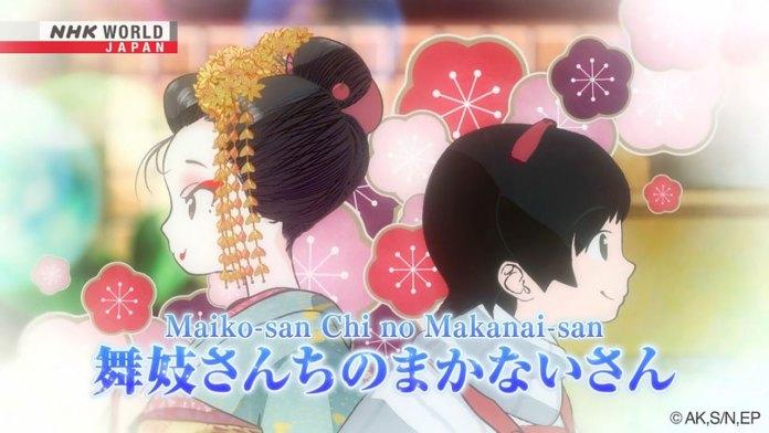Anime de Maiko-san Chi no Makanai-san em fevereiro 2021