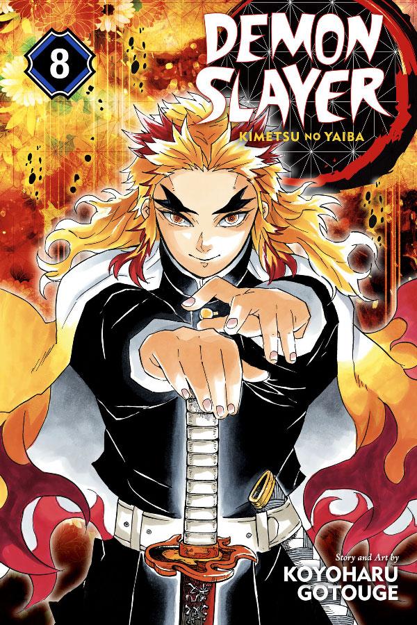 Capa do volume 8 do magá Kimetsu no Yaiba (Demon Slayer)